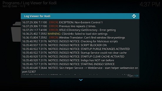Log Viewer for Kodi – Precise Removal of Kodi Maintance Tool