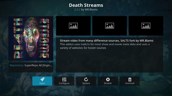 Death Stream kodi addon for movies