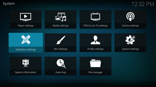 First Step to Change Kodi Skin