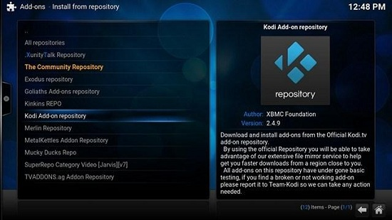 How to install repositories on Kodi