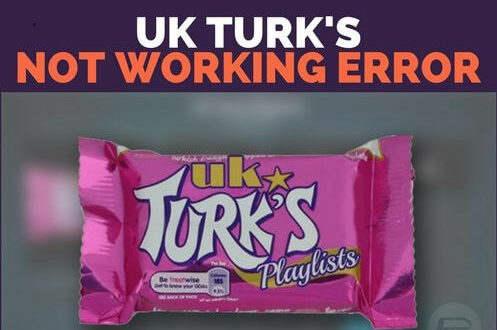 UK Turks not working
