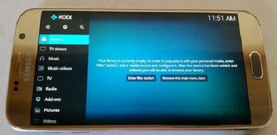 How to check kodi version on android