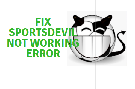 sportsdevil not working