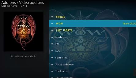 wow kodi addon for movies