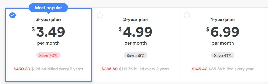 nordvpn pricing plan