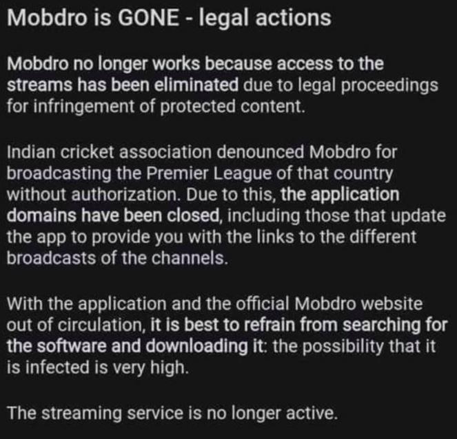 Mobdro connection Error